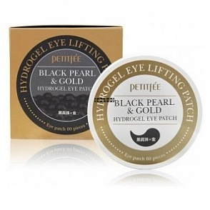 Petitfee Гидрогелевые патчи для глаз Black Pearl & Gold Eye Patch	60шт